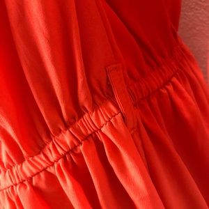 Speed Control Dresses - Speed control orange button down shirt dress 2X